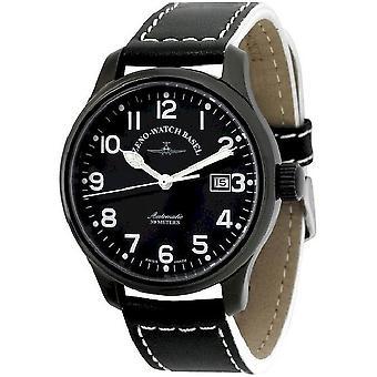 Zeno-watch Herre ur NC pilot pilot sort 9554-bk-a1