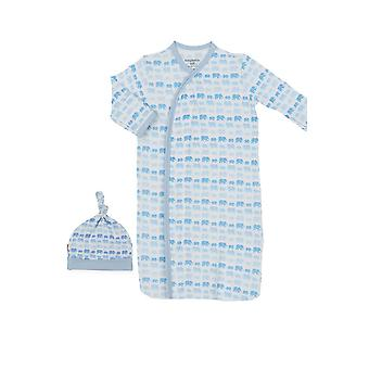 Magnetic Me™ Modal Magnetic Baby Gown & Hat Set