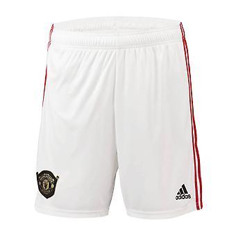2019-2020 Man Utd Adidas Home Shorts (White)