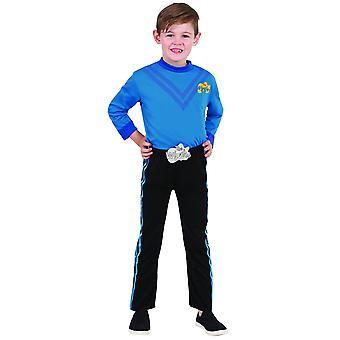 Blauw Wiggle de Wiggles Anthony Deluxe boek Week aankleden jongens kostuum maat 3-5