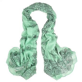 & reg; Womens grand été porcelaine mousseline de soie surdimensionné long Wrap mince style écharpe
