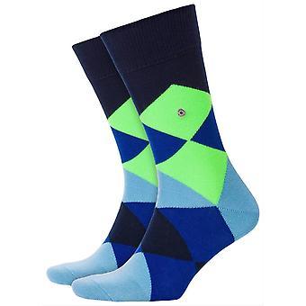 Burlington Neon Clyde Socks - Marine Navy/Blue/Green