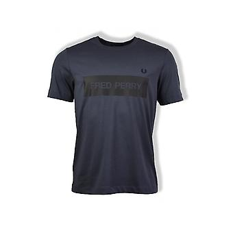 Fred Perry mono grafisk T-shirt (grafit)