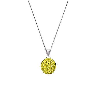 Eternal Collection Tarantella Sunshine Yellow Diamante Silver Tone Pendant Necklace
