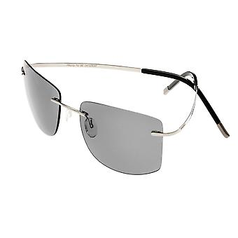 Breed Aero Polarized Sunglasses - Silver/Black