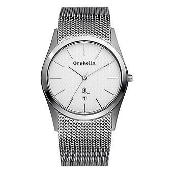 ORPHELIA Herren Analog Armbanduhr Mesh Up Silber Edelstahl 122-7701-88