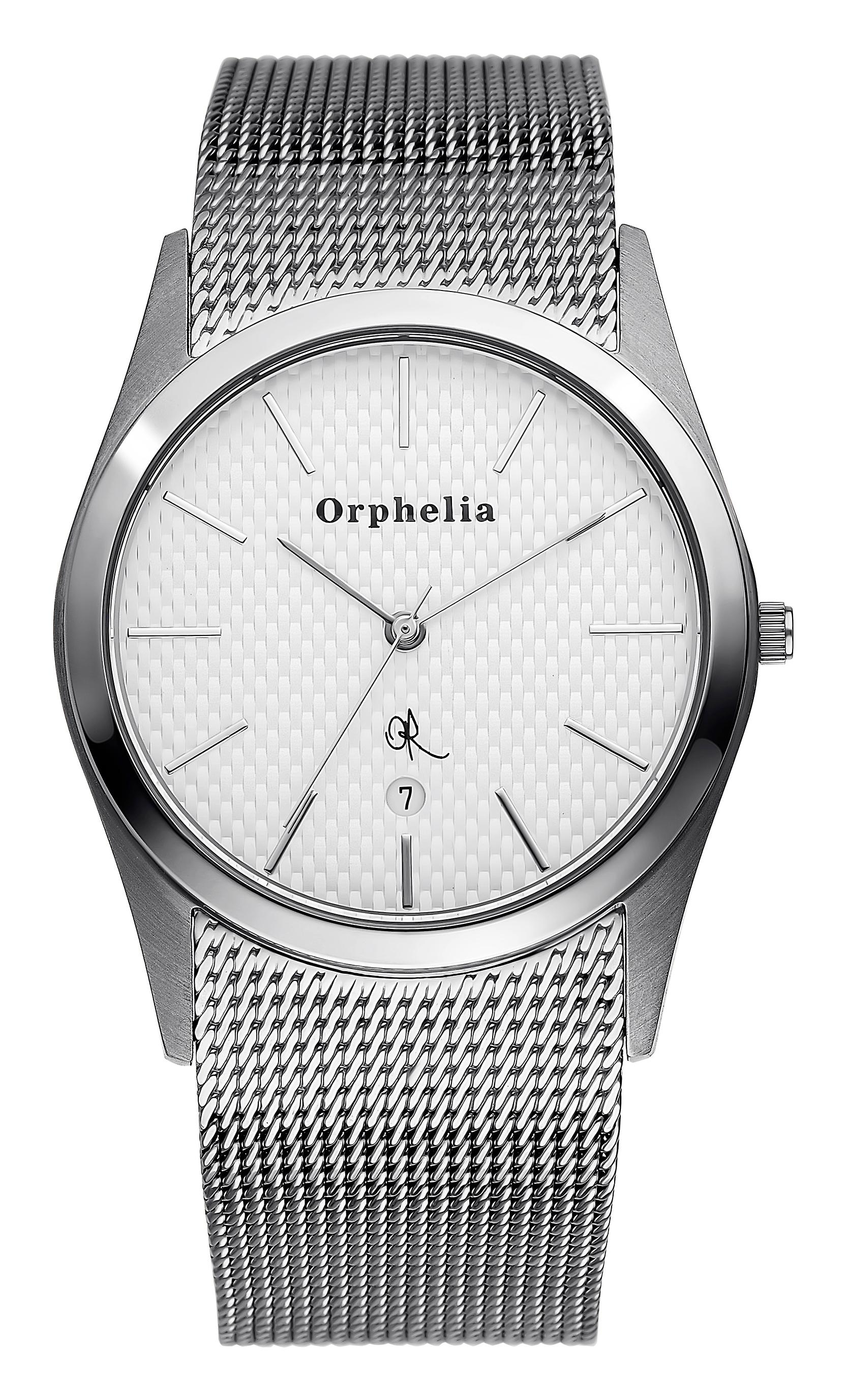 ORPHELIA Mens Analogue Watch Mesh Up argento acciaio inox 122-7701-88
