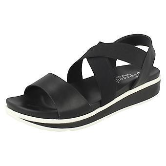 Ladies Savannah Low Wedge Sandals F10876