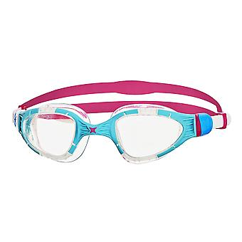 Zoggs Swimming Goggles Aqua Flex  Anti-Fog Lenses in Blue/Pink/Clear - One Size