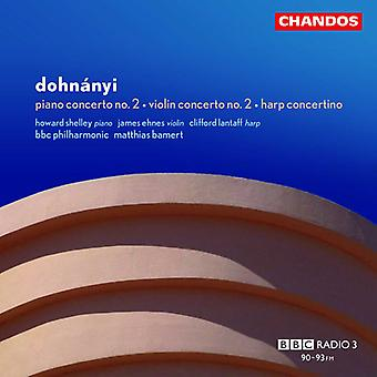 E.V. Dohnanyi - Dohn Nyi: Piano Concerto No. 3; Violin Concerto No. 2; Harp Concertino [CD] USA import