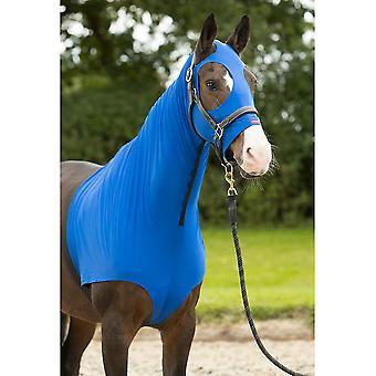 LeMieux Lemieux Pony/horse Lycra Hood - Benetton Blue