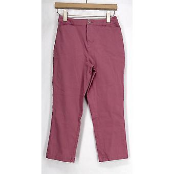 Liz Claiborne York Stretch w/ Slim Leg Cropped Length Pink Jeans