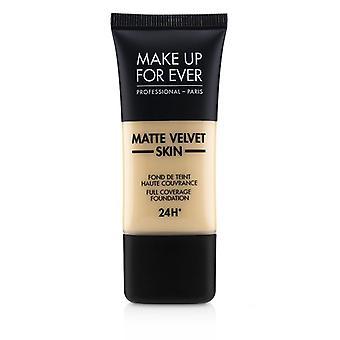 Make-up voor ooit mat fluweel huid volledige dekking Foundation-# Y215 (gele albast)-30ml/1oz