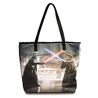 Sac fourre-tout - Star Wars - Darth Vader And Obi-Wan Photo Real Shopping Hand Purse Licensed sttb0035
