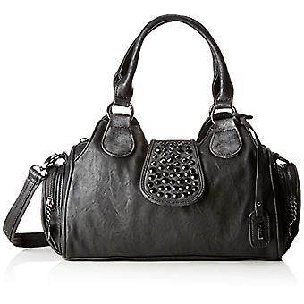 Rieker H1112-Black Women ' s bag (Schwarz/Silber) 12x21x39 cm (B x H T)