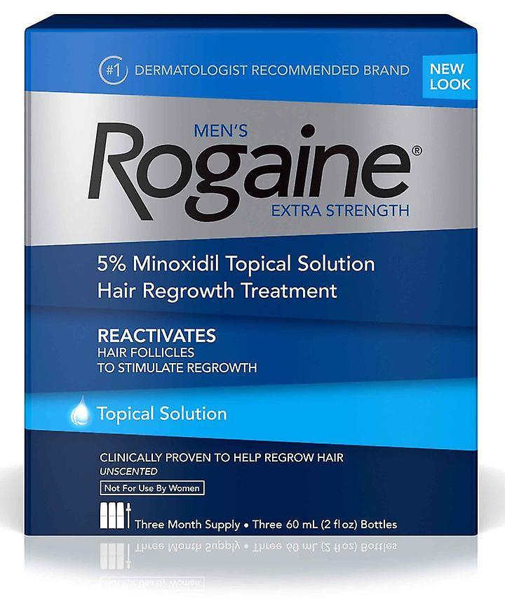 Rogaine Minoxidil Solution 5% For Men - 3 Months Supply