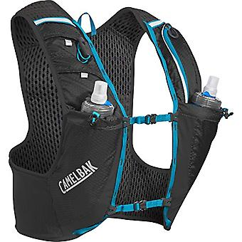 CamelBak Ultra PRO Vest - Unisex-Adult Racing Gilet - Black/Atomic Blue S - 0.5 L