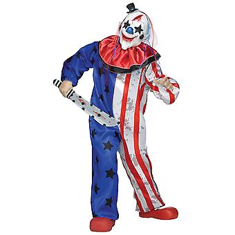Evil Clown Horror Joker Evil Jester Scary Halloween Dress Up Boys Costume