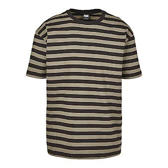Urban Classics Men's T-Shirt Oversized Yarn Dyed Bold Stripe