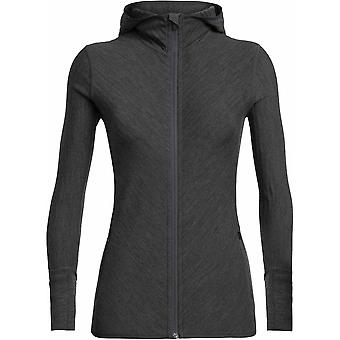 Icebreaker Women's Descender LS Zip Hooded - Jet Heather