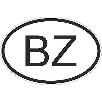 Aufkleber Aufkleber Aufkleber Aufkleber Flagge Oval Code Land Motorrad Auto Belize Belizien Bz