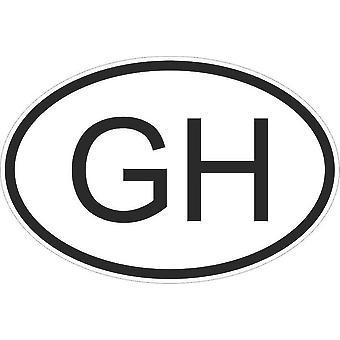 Sticker Sticker Sticker Sticker Flag Oval Code Country Car Moto Ghana Ghaneen Gh