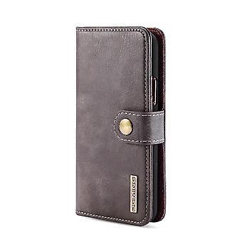 Dg. MING iPhone 11 Pro Split Leather Wallet Case-Coffee