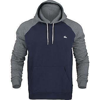 Quiksilver mens Everyday Pullover hoodie-marinblå/mörkgrå Ljung