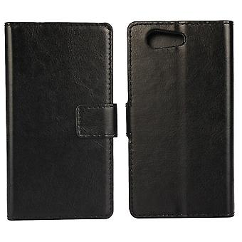 Xperia Z3 / Z4 mini compact wallet leather case black