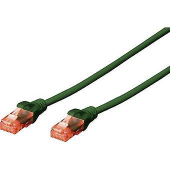 Digitus RJ45 Networks kabel CAT 6 U/UTP 3,00 m groen