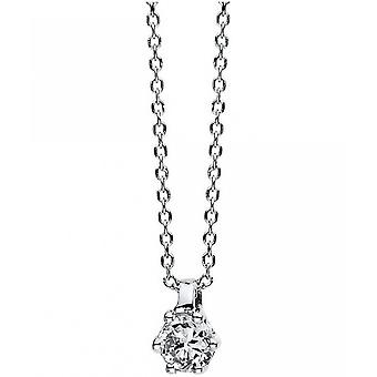 Diamond Collier Collier - 18K 750/- White Gold - 0.1 ct.