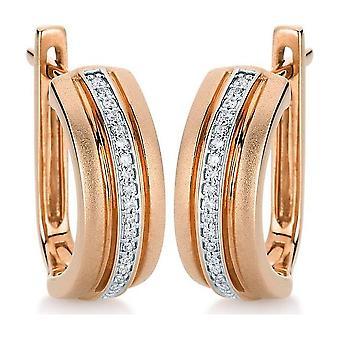 Diamond earring earring 585/red gold 0.1 ct.