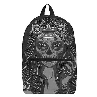 Five Finger Death Punch Backpack Lady Muerta Band Logo new Official Black