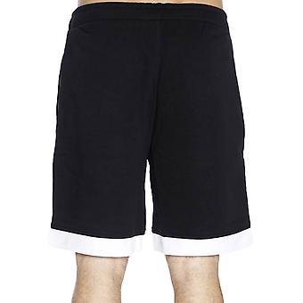 Neue Ära Mens NBA Cleveland Cavaliers Mesh Basketball Knie Länge Shorts - schwarz
