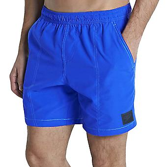 Speedo Mens Checked Leisure Swimming Swim Beach Water Shorts - Bleu