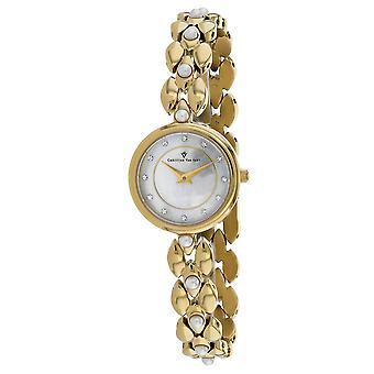 Christian Van Sant Frauen's Perla Perla Perlmutt Zifferblatt Uhr - CV0616
