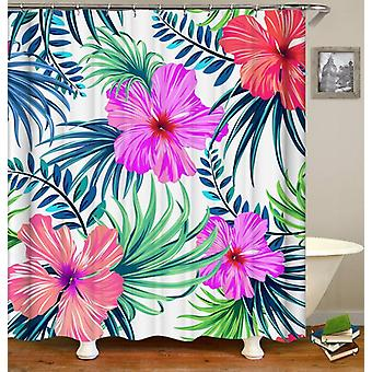 Giant Tropical Flowers Shower Curtain