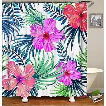 Riesige tropische Blumen Duschvorhang