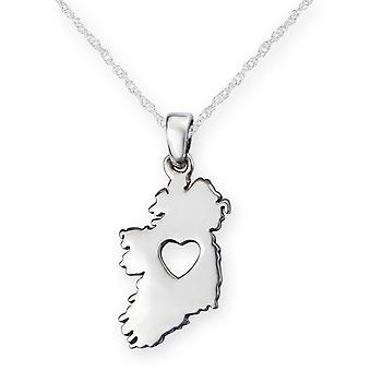 Irish From The Heart Of Ireland Shaped Necklace Pendant - Includes A 20
