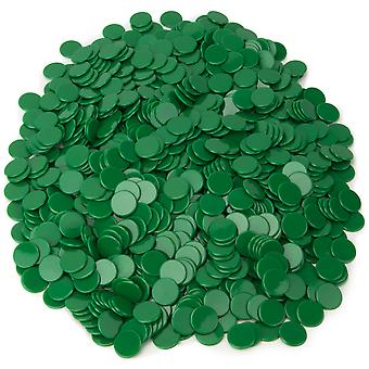 Solid Green Bingo Chips, 1000er-Pack