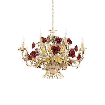 Ideal Lux Camilla 8 lys anheng lys rød IDL168081