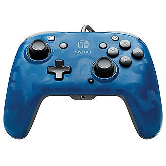 PDP Nintendo Switch Face-off Deluxe Controller + Audio (Camo Blue) For Switch