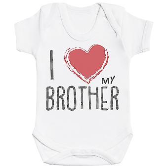 Ich liebe meinen Bruder rotes Herz Baby Body