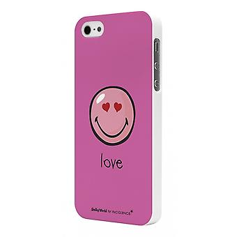 Smiley Rubber Shell Pink Model Harmony By Moxie For Apple IPhone 5