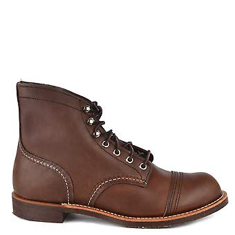 Red Wing Men's Iron Ranger 6 Inch Amber Boot