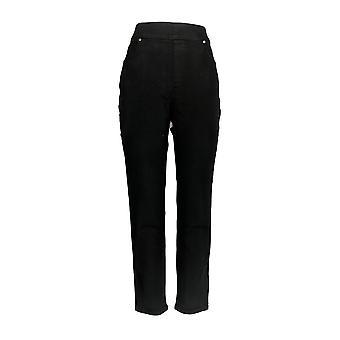Martha Stewart vrouwen ' s jeans Knit denim zwart A351436