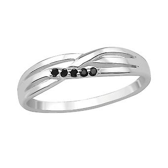 Intertwining - 925 Sterling Silver Jewelled Rings - W30525x