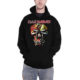 Iron Maiden Mens Hoodie Black Pullover Final Frontier Eddie Big Head Official