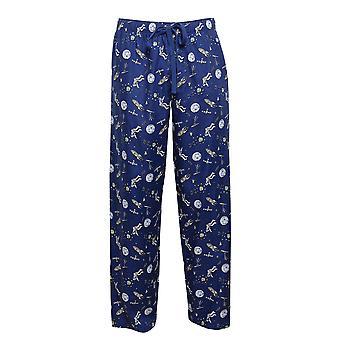 Cyberjammies 6432 mænd ' s Buzz Blue Space print bomuld vævet pyjamas pant