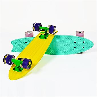 Kinder Skateboard Pastell 23, Aluminium Achse, 80A 45mm, ABEC-7, LED-Beleuchtung